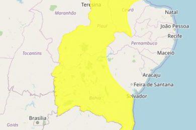 Piauí está em alerta para chuvas intensas pelos próximos dias