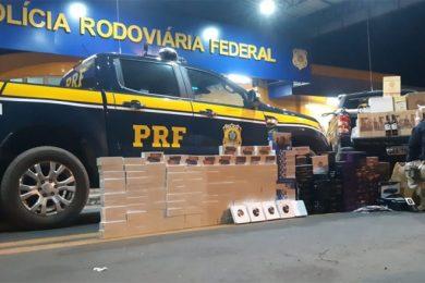 Eletrônicos: PRF apreende carga avaliada em quase R$ 400 mil