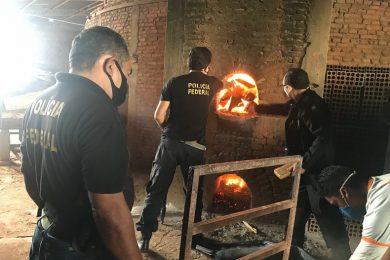 Polícia Federal incinera mais de 300 quilos de drogas em Teresina