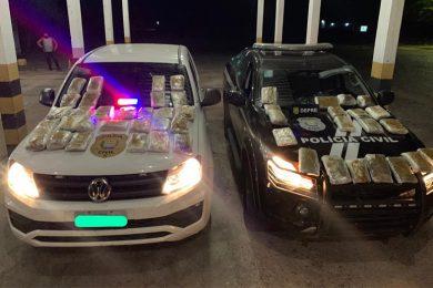 Operação foca em ônibus, prende 7 por tráfico e apreende 100 kg de drogas