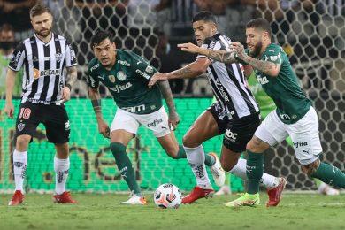 Dudu marca, Palmeiras empata com Atlético-MG e vai à final da Libertadores